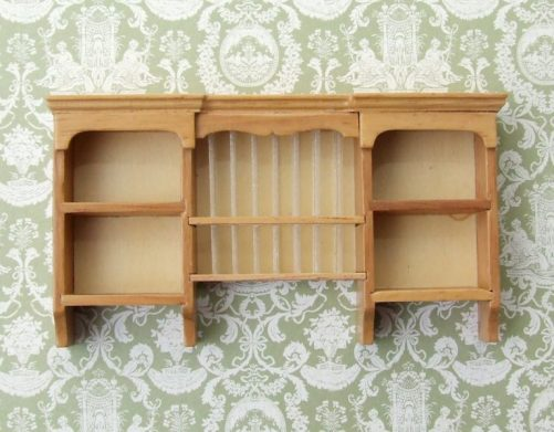 Dolls House wall plate rack
