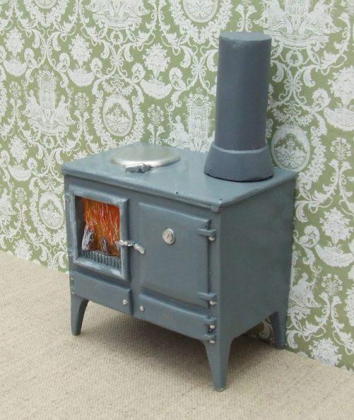Dolls house wood burning kitchen stove