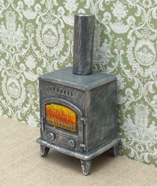 Dolls house wood burning stove