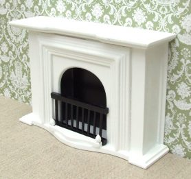 Dolls house white Georgian fireplace
