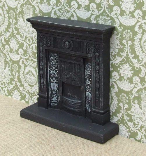 Dolls house black Victorian Fireplace