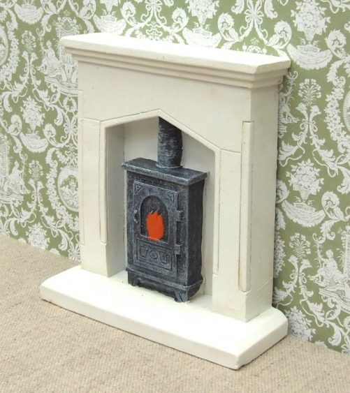 Dolls house fire surround and stove