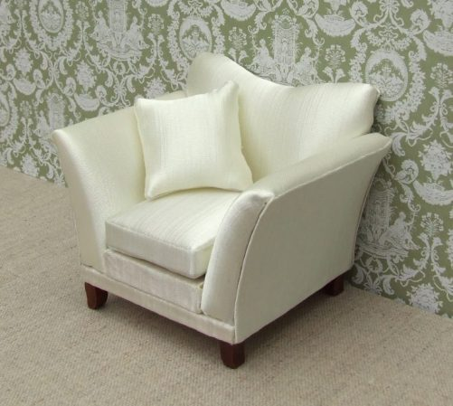 Dolls house cream arm chair