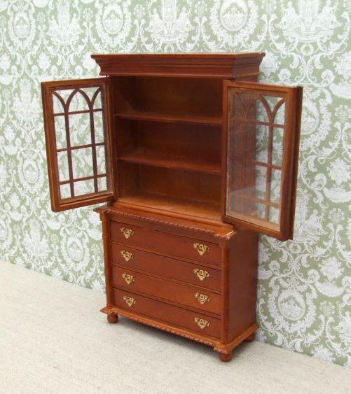 Dolls house Bookcase Bureau