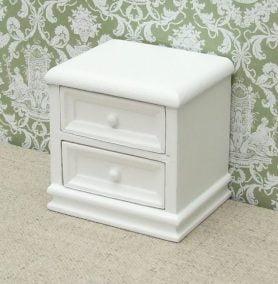 White dolls house nightstand