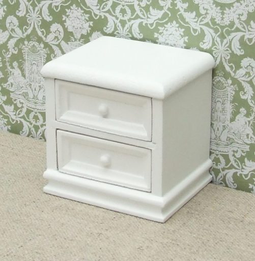 White dolls house nightstand
