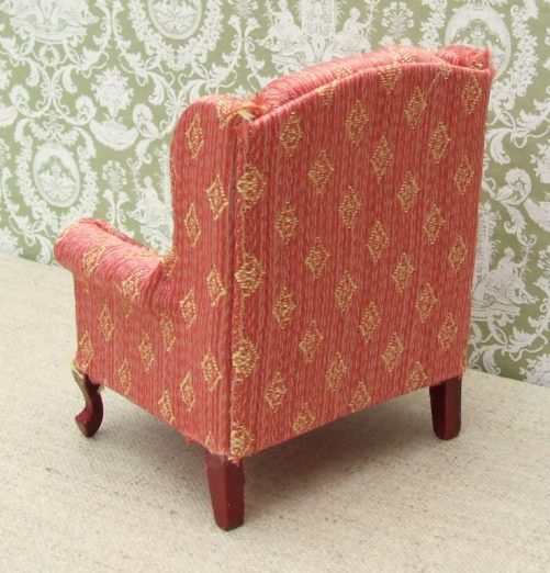 Dolls house wing back chair