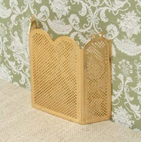 Dolls house brass firescreen