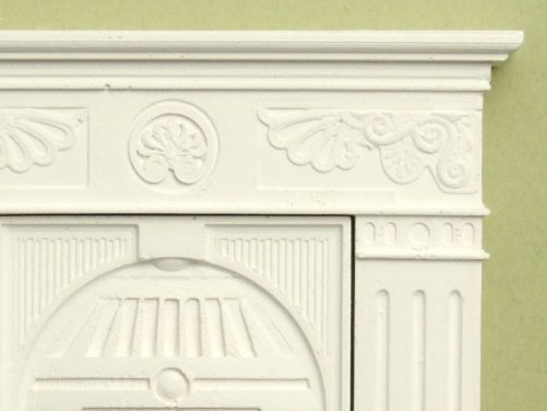 Dolls house cast iron fireplace detail