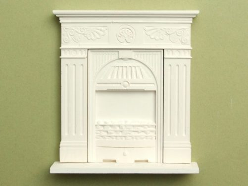 Small cast iron dolls house fireplace kit